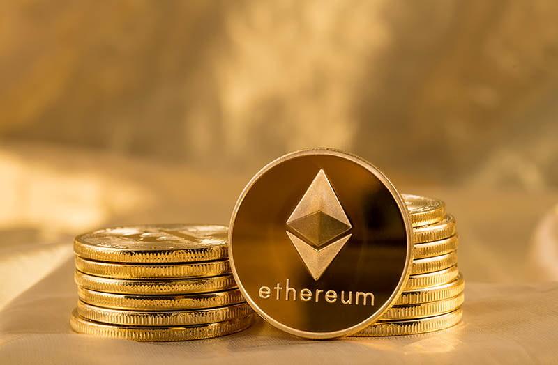 illustrazione di una valuta virtuale ethereum