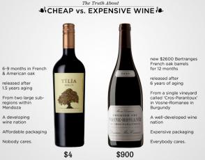 differenza costosa bottiglia di vino bottiglia di vino