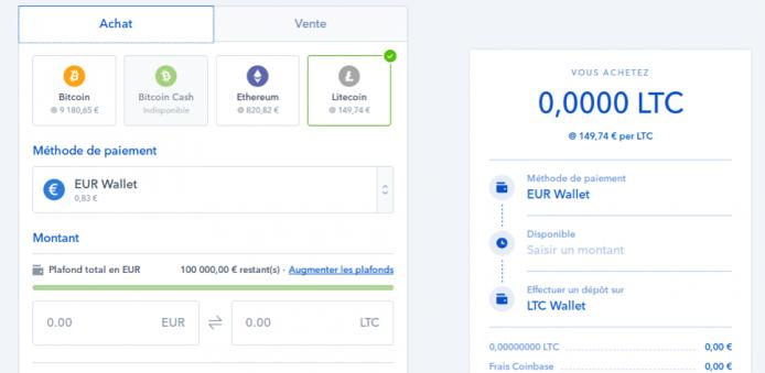 Acquisto BTC Avis coinbase