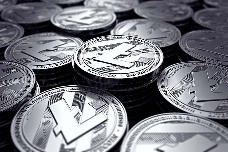 illustrazione di una valuta virtuale litecoin