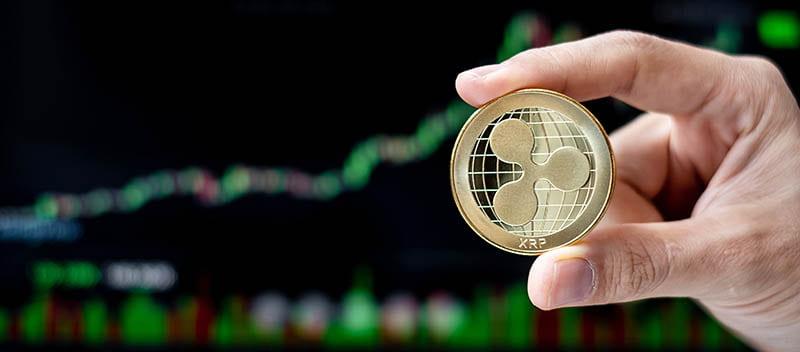illustrazione di una valuta virtuale xrp